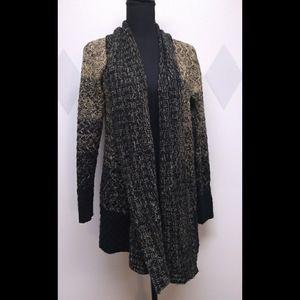 Tobi long open front cardigan sweater sz M